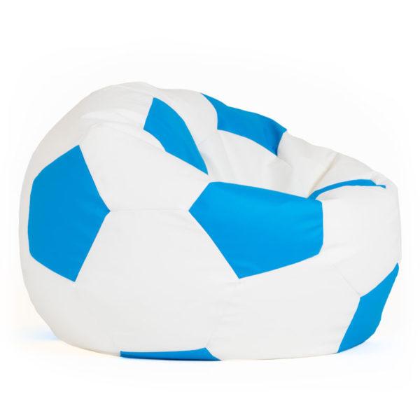 Pufs zils futbola